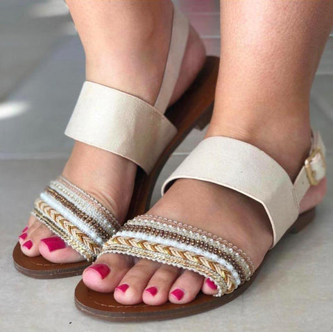 David Isaac Sandals (Beige)