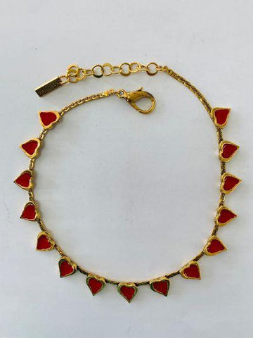 Heart Red Choker