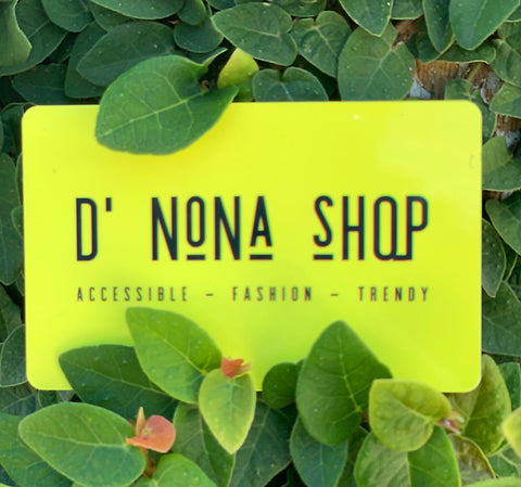 Gift Card | D' Nona Shop Boutique