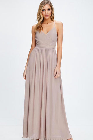 Long Taupe Dress | D'Nona Shop Boutique