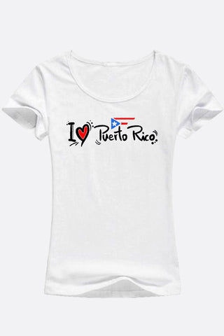I Love Puerto Rico Tee |  D'Nona Shop Boutique