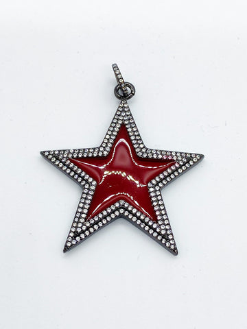 Ruby Star Pendant