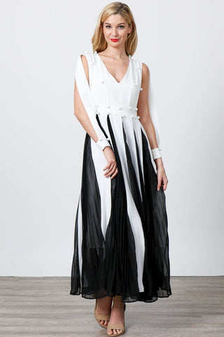 Open Arm Maxi Dress