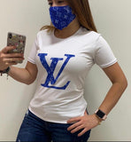 LV T- Shirt Blue With Mask