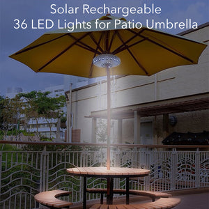 Solar Rechargeable 36 LED for Patio Umbrella