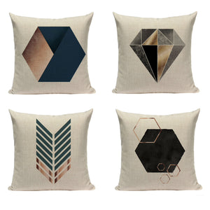"Modern Geometric Decorative Pillow Cover 18"" x 18"""