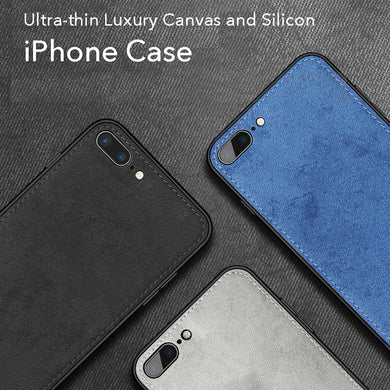 Ultra-thin Luxury Denim and Silicon iPhone Case (From series 6 to the latest Xr)