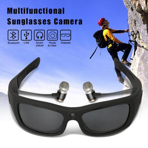 HD Camera Polarized Glasses with 16GB SD Card and Bluetooth Headsets.