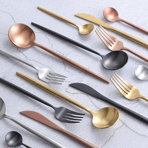 Luxury 16 Pieces Stainless Steel Dinnerware Hotel Collection