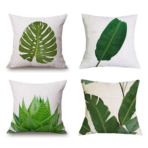 "Tropical Plants Decorative Pillow Cover 18"" x 18"""