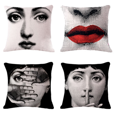 Decorative Vintage Art Beauty Pillow Cover 18