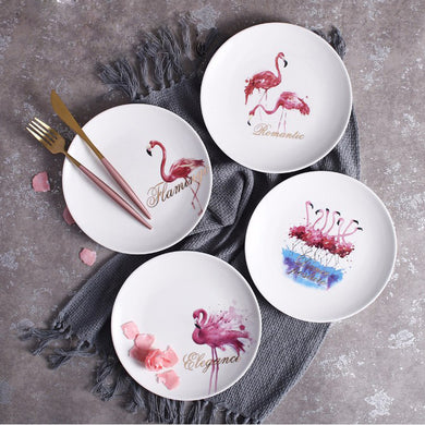 Breakfast Set of 4 Love Flamingo Porcelain 8