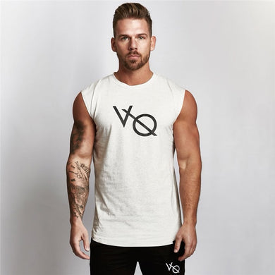 Sleeveless T Shirt in White