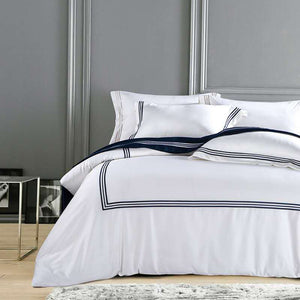 Silky Egyptian Cotton Hotel Collection White Bedding Set