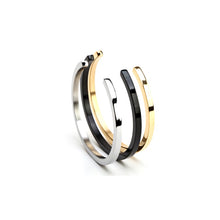 Stainless Steel Gold Plated Cuff Bracelet