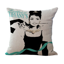"Audrey Hepburn Decorative Pillow Cover 18"" x 18"""