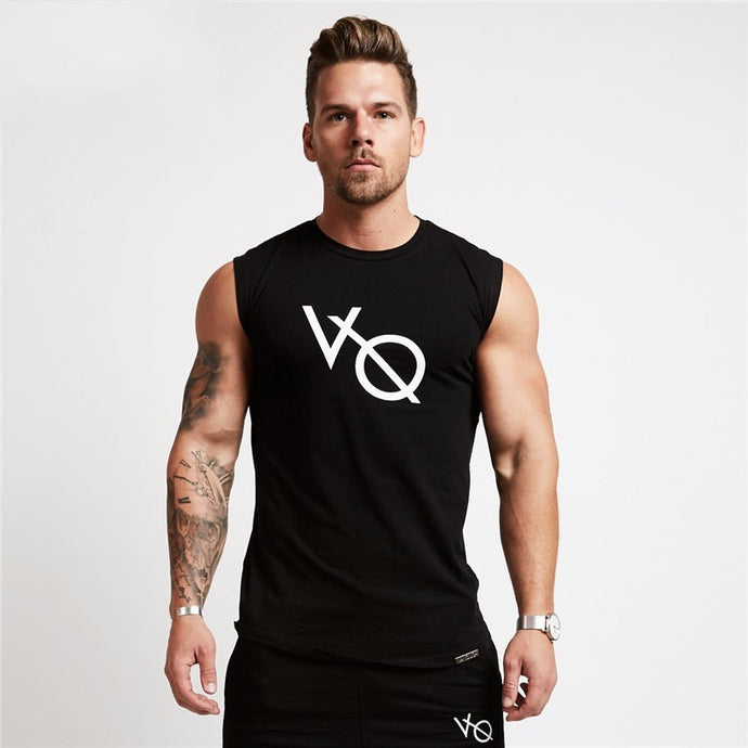 Sleeveless T Shirt in Black