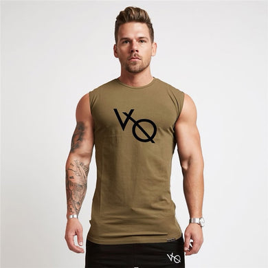 Sleeveless T Shirt in Khaki