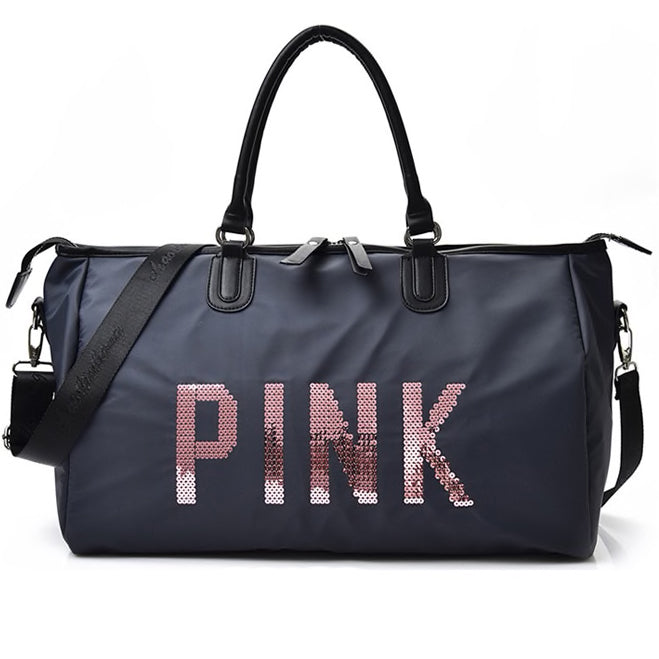 Pink Travel Duffle Bags Sequins