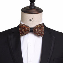 Handmade Feather and Leather Bow Tie