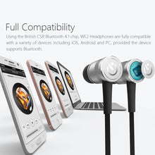 WE2 Magnetic Bluetooth 4.1 Earphones with Build-in Mic Microphones