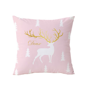 "Pink Flamingos Geometric Decorative Pillow Cover 18"" x 18"""