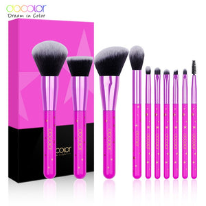 Pink 10PCS Make up Brushes Set - Koteli