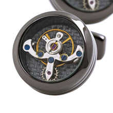 Cufflink with mechanical movement Tourbillon. - Koteli