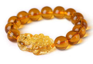 Citrine Yellow Pi Yao Pi Xiu Bracelet Bead for Wealth and Good Luck - Koteli