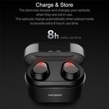 ROCKSPACE EB30 TWS Wireless Earbuds Stereo Microphone With Charger Box - Koteli