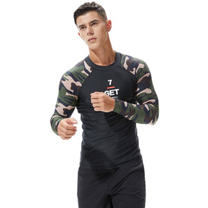 Camouflage Men's Long Sleeve Shirt in Black