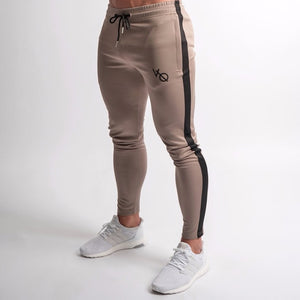 Khaki Edge Tapered Sweatpants
