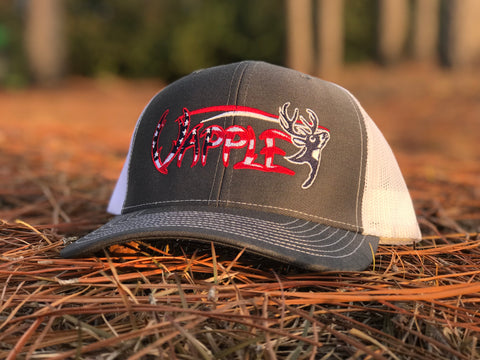 VAPPLE HAT | GREY, RED, WHITE, & BLUE