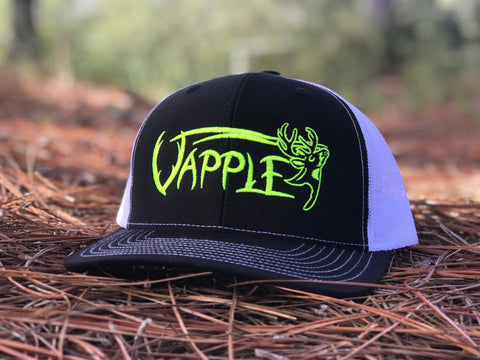 VAPPLE HAT | BLACK/WHITE/NEON