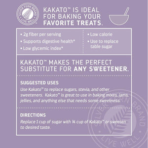Kakato - Natural Prebiotic Sweetener