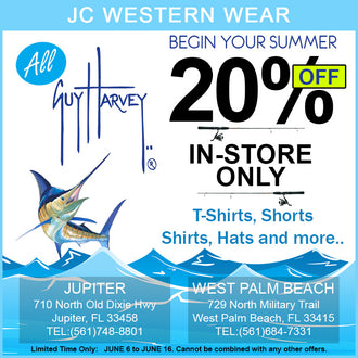NEW DEAL ALERT! 20% OFF ALL IN-STORE GUY HARVEY ITEMS