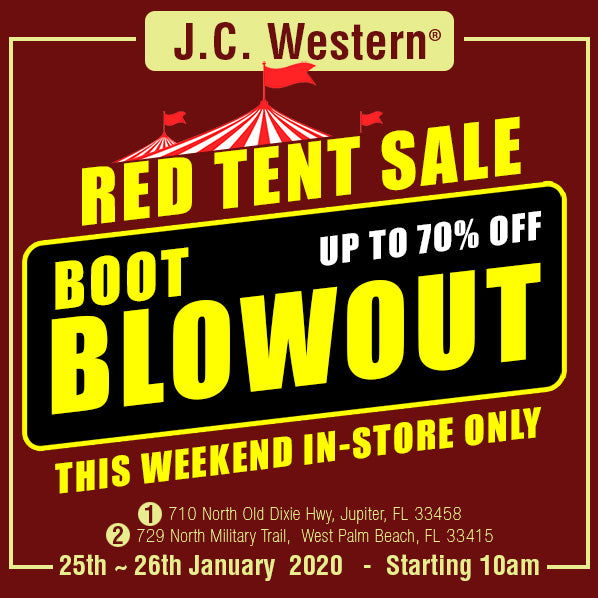 Up to 70% off Big Red Tent Sale Event at JC Western