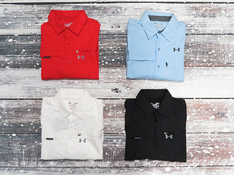 Under Armour Mens Flats Guide Long Sleeve Shirt On Clearance