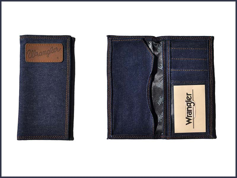 Limited Stock - Unisex Wrangler Check Book Wallet