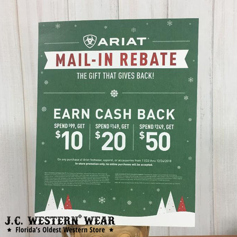 Ariat Mail-In Rebate - The Gift That Gives Back