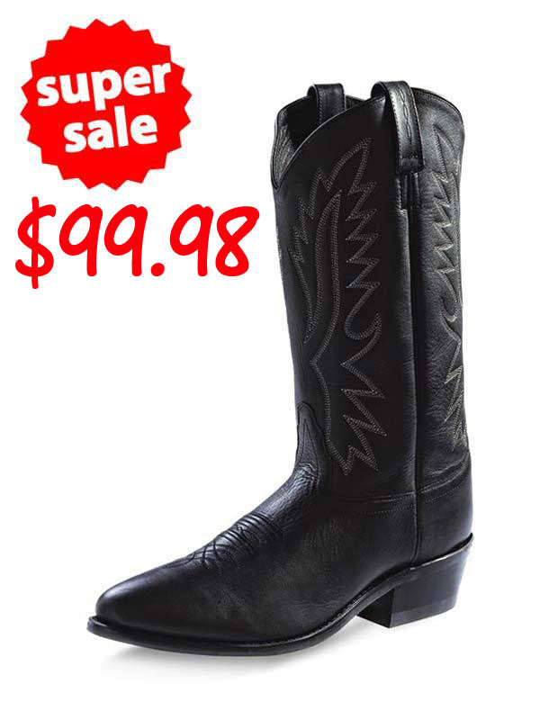 Under $100 and FREE SHIPPING - Old West Men's Black Western Boots