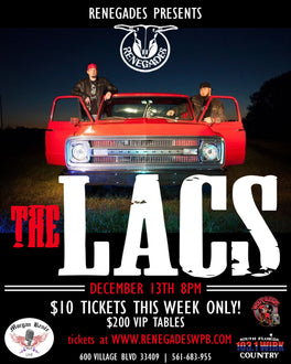 The Lacs Perform at Renegades WPB - See You There
