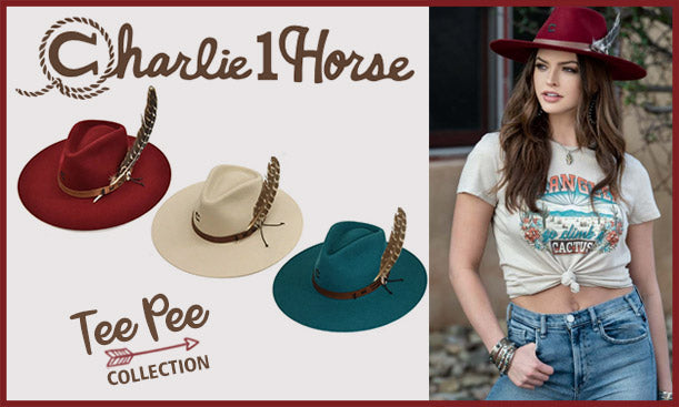 Charlie 1 Horse Western Hats Tee Pee Collection