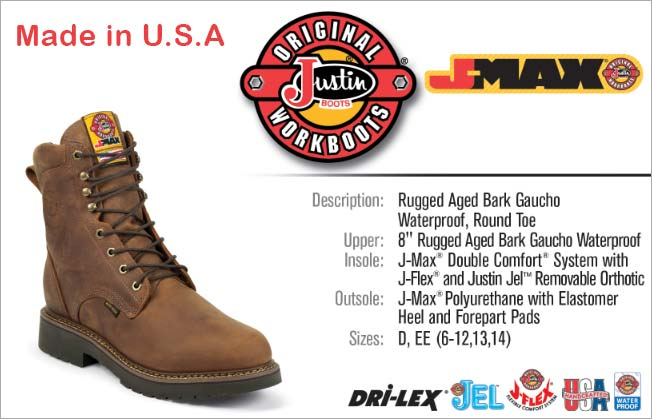 "Justin Boots 8"" Work Boot 457"