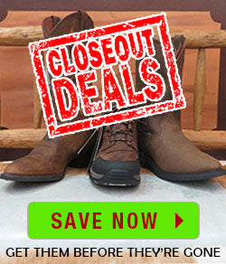 Closeout Boot Deals at JC Western Wear