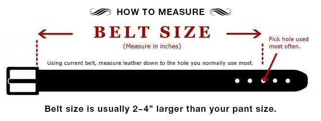 How to measure belt size