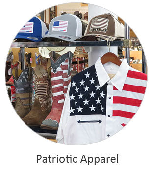 Patriotic Apparel and Flag Boots