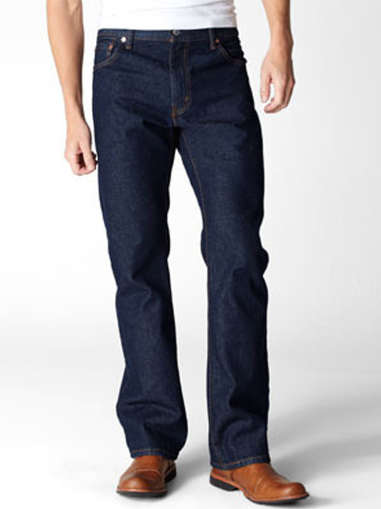 Levi's 005170216 Mens 517 Mid Rise Slim Fit Bootcut Jeans Rinse Front