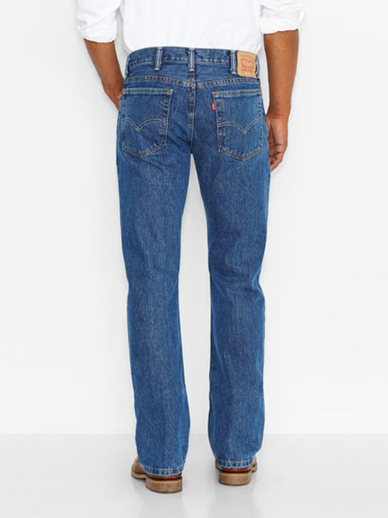 Levi's 005174891 Mens 517 Mid Rise Slim Fit Bootcut Jeans Medium Stonewash