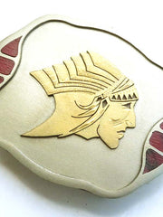 Johnson & Held Indian Chief Head Handcrafted Belt Buckle 1910